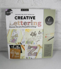 Creative Lettering Spicebox Art Studio Calligraphy Book Pens Paints Brushes New