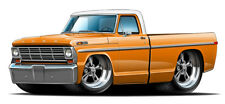 1969 FORD F100 302 Cartoon Truck Boys Mens Wall Graphic Decal Sticker Man Cave
