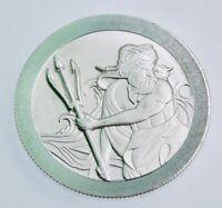 Poseidon - Trident Stacker 1 oz .999 Silver Coin High Relief-BU