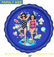 "Xmas Gift Sprinkler for Kids Splash Pad & Wading Pool 68"" Inflatable Water Toys"