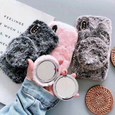 Makeup Mirror Plush Case Cover For iPhone 11 Pro Max XR XS X 6s 8 7 Plus SE 2020