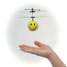 Mini Flyer SMILEY with Motion Fly Sensor- Active Indoor Toy- USB Cord Included
