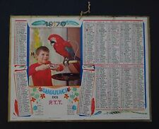 Calendrier 1970 Almanach des Postes PTT Perroquet gourmand