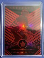 2019-20 Upper Deck Artifafts Aurum Red #A-5 Auston Matthews 61/99 Toronto
