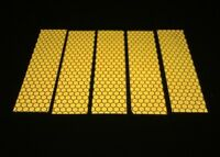 5 Pieces of Golden High Intensity Reflective Tape Self-Adhesive 50mm×200mm×5