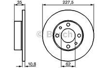 BOSCH Juego de 2 discos freno 227mm SEAT IBIZA FIAT FIORINO PANDA 0 986 478 063