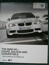 BMW M3 Coupe, Saloon & Convertible brochure 2010 ed 2