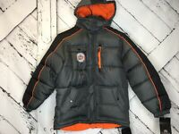Weatherproof Boys Winter Ski Jacket by Size Large 14 16 Gray Snowboard Hat NEW