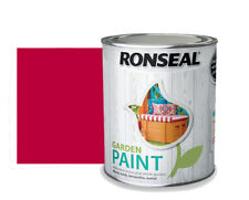 Ronseal Garden Paint Surfaces Wood Terracotta Metal Moroccan Red 250ml