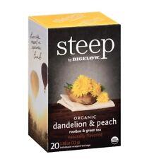 Bigelow Green 17715 Steep Tea, Dandelion & Peach, 1.18 Oz Bag, 20/Box
