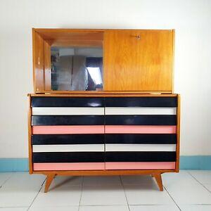 Jiri Jiroutek bar cabinet with drawers U-453 by Interier Praha