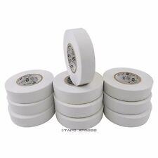 "10 Rolls White Vinyl PVC Electrical Tape 3/4"" x 66' Adhesive - Free Shipping"