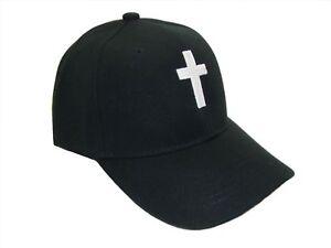 Christian Cross Religious Theme Baseball Cap Caps Hat Hats God Jesus Black White