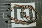 6 Pcs Male to Female FUTABA Servo Extension Wires - Choose Your Length