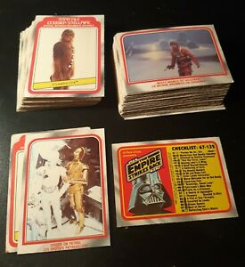 STAR WARS EMPIRE STRIKES BACK 1980 SERIES 1 OPC CANADA PART SET NON SPORTS CARDS