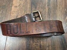 Hollister Men's Brown Genuine Leather Belt Size 30