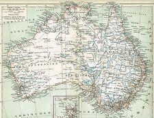 Karte von AUSTRALIEN 1894 Original-Graphik