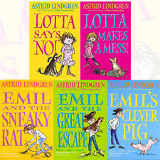Astrid Lindgren Collection 5 Books Collection Set Lotta Says 'NO!', Lotta Makes