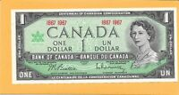 1967 CANADIAN 1 DOLLAR NOTE VERY NICE CRISP (UNC)
