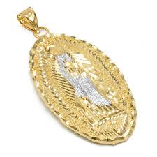 La Virgen Maria De Guadalupe Our Lady Mary Gold Extra Large Pendant Catholic