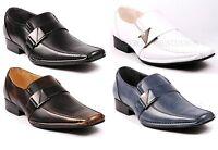 Metrocharm Sam-01 Men's Buckle Strap Slip On Loafers Dress Classic Shoes