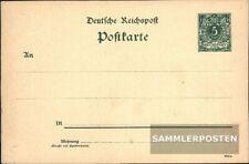 Deutsches Reich P30I Amtliche Postkarte gebraucht 1891 Ziffer