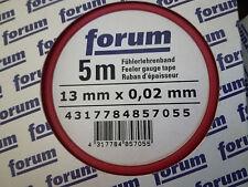 7 x Fühlerlehrenband 0,02 bis 0,08mm.Länge 5m Breite13mm Fühlerlehren Lehrenband