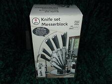 Messerblock Messer Set schwarzer Griff tlg. Edelstahl Küche Neu Küchenmesser Top