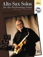 Alto Sax Solos for the Performing Artist: Book & CD by Alfred Music...