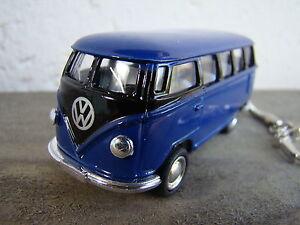 Porte clé Volkswagen bus combi T1 bleu et noir neuf, idée cadeau