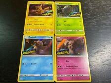 Pokemon: Detective Pikachu Promo Set 4 Cards Sm170 Sm198 Sm199 Sm200 Nm