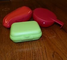 LOT Tupperware FORGET ME NOT Pepper Keeper SMALL PACKABLES Storage SNACKS Red