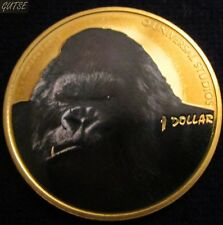 NEW ZELAND, 1 DOLLAR 2005, MULTICOLORED KING KONG, PROOF.