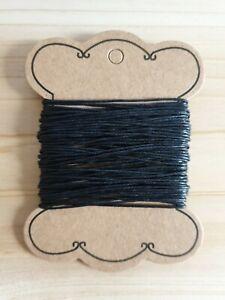 10m Wachsschnur Wachsband zum Basteln/Schmuckherstellung ♥ Schwarz Ø 0,7-1,2mm