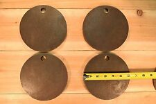 """AR500 1/2"""" American Steel Shooting Targets 6"""" Circles Set Of FOUR"""