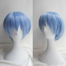 EVA Neon Genesis Evangelion Rei Ayanami Short Light Blue Cosplay Wig Party Wigs