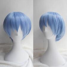 EVA Neon Genesis Evangelion Rei Ayanami Short Light Blue Cosplay Wig Party Wigs