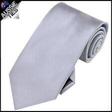 Mens Mid Silver Plain Necktie