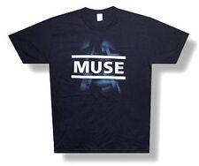"MUSE - ""DIMENSION"" FUTURISTIC DESIGN SOFT BLACK T-SHIRT - NEW ADULT SMALL S"