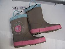 BNWT Older Girls Sz 1 Quality Rivers Doghouse Brand Mocha Apple Print Gumboots
