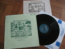 The Consort of Musicke avec Martyn Hill – les feuilles être Greene UK Lp 1972