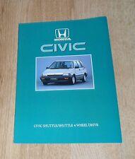 Honda Civic Shuttle Brochure 1986 - 1.5 Shuttle & Shuttle 4WD - UK Market