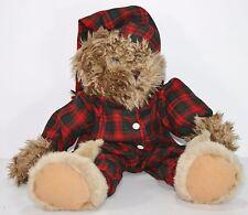 Plush Teddy Boy Bear Plaid Pajamas Bunny Rabbit Slipper Lodge Cabin Decor