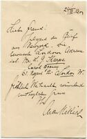 ARTHUR NIKISCH - orig. sign. Autograph - Brief, 1904 - signed letter