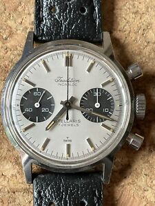 Vintage Tradition (Heuer) Chronograph Men's Wrist Watch Double Signed.