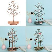 US_ Tree Jewelry Stand Display Organizer Necklace Earring Ring Holder Show Rack