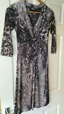 Womens Brown and Beige Animal Print Linea Dress. Size 8.