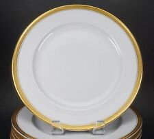 Hutschenreuther Classic Gold Embossed Flower Leaves Band 12 Dinner Plates