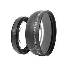 55mm 0.45x Wide Angle + Macro Conversion Lens 0.45x55 for Canon Nikon SLR Camera