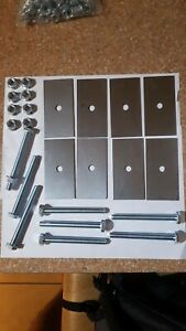 van seats fixing kit 4x2inch 10mm holes with Bolts 10cm